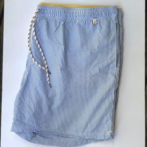 Lands' End Men's Striped Swim Shorts size XXL